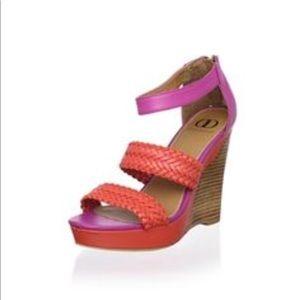NWOB Kelsi Dagger Allegria wedge sandal sz9